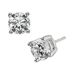 Diamonore Sterling Silver 2 ctT.W. Simulated Diamond Stud Earrings