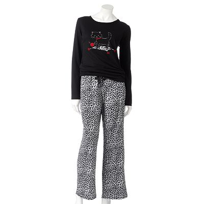 Croft and Barrow Print Knit Pajama Gift Set