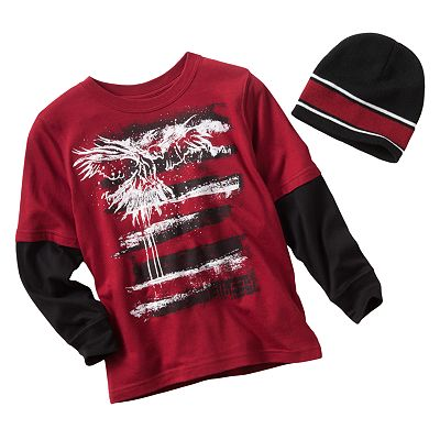 Tony Hawk Mock-Layer Strike Down Tee and Hat Set - Boys 4-7x