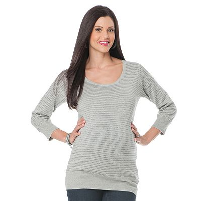 Oh Baby by Motherhood Lurex Striped Sweater - Maternity