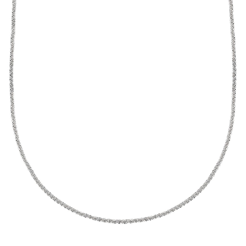 Splendid Silver Silver-Bonded Mirror Rope Chain Necklace - 18-in.