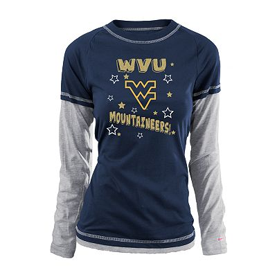 Soffe West Virginia Mountaineers Mock-Layer Tee - Juniors'