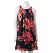 Dana Buchman Floral Pleated Shift Dress
