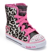 Skechers Twinkle Toes Shuffles Dream Date High-Top Sneakers - Toddler Girls