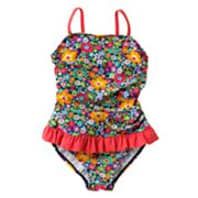Mudd Floral Fringed One-Piece Swimsuit - Girls 4-6x