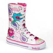 Skechers Twinkle Toes Shuffles Mellow Me High-Top Sneakers - Girls
