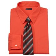 Croft and Barrow Classic-Fit Point-Collar Dress Shirt with Striped Tie Box Set