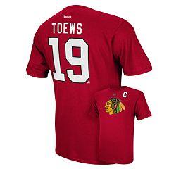 Men's Reebok Chicago Blackhawks Jonathan Toews Player Tee - Men