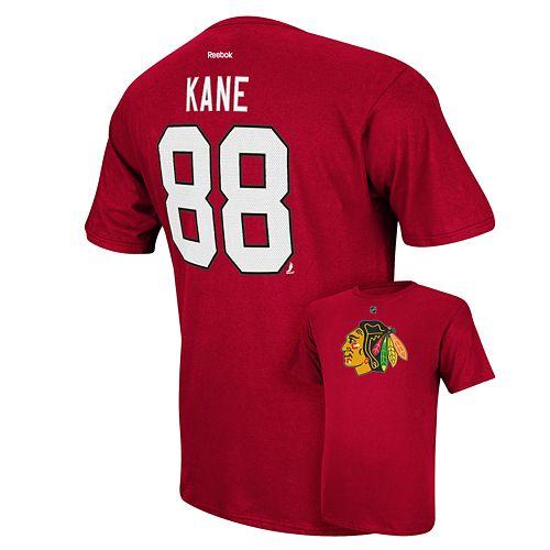 Men's Reebok Chicago Blackhawks Patrick Kane Player Tee