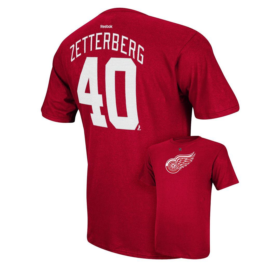 Men's Reebok Detroit Red Wings Henrik Zetterberg Player Tee