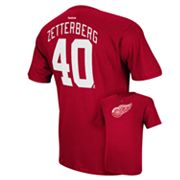 Men's Reebok Detroit Red Wings Henrik Zetterberg Player Tee