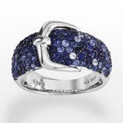 Elements by EFFY Sterling Silver Sapphire Buckle Ring