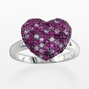 Elements by EFFY Sterling Silver Ruby and Pink Sapphire Heart Ring
