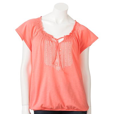 SONOMA life + style Embroidered Peasant Top