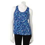 Apt. 9 Dot Tiered Mixed-Media Tank - Petite