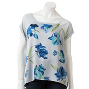Apt. 9 Floral Mixed-Media Top