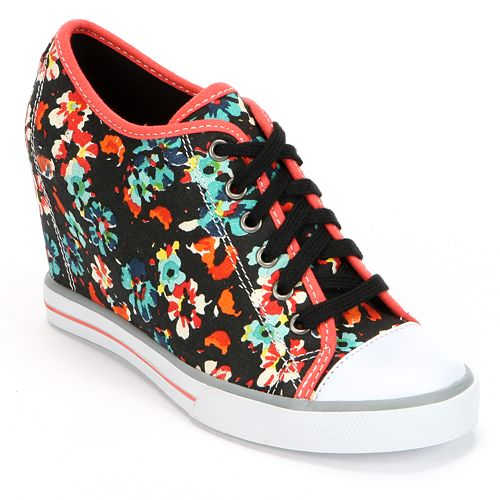 SO® Floral Wedge Sneakers - Women