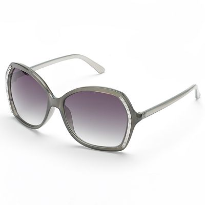 Relic Madison Rhinestone Square Sunglasses