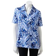 Cathy Daniels Geometric Polo