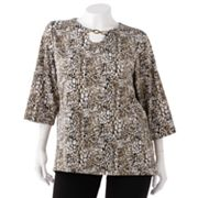 Cathy Daniels Animal Embellished Top - Women's Plus