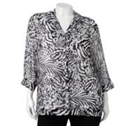 Cathy Daniels Animal Shirt Set - Women's Plus