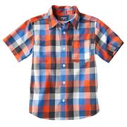 OshKosh B'gosh Checkered Woven Button-Down Shirt - Boys 4-7x