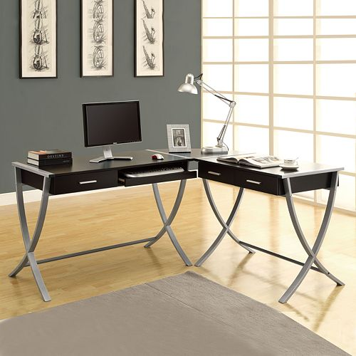 Magnificent Monarch Modern L Shaped Home Office Desk Home Interior And Landscaping Eliaenasavecom