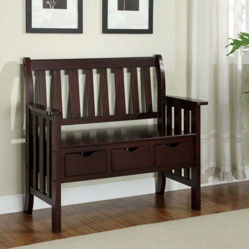 Monarch 3-Drawer Storage Bench