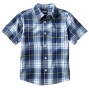 OshKosh B'gosh Plaid Woven Button-Down Shirt - Boys 4-7x