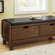 Monarch 2-Drawer Storage Bench