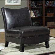Monarch Faux-Leather Accent Chair