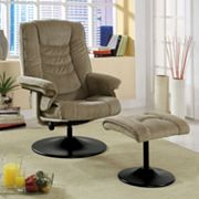 Monarch Chenille Reclining Chair with Ottoman