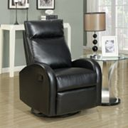 Monarch Leather Recliner Rocking Chair