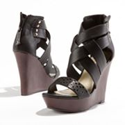 Princess Vera Wang Platform Wedge Sandals - Women
