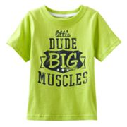 Jumping Beans Little Dude Big Muscles Tee - Baby
