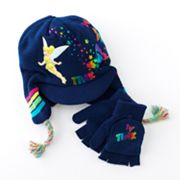 Disney Fairies Tink Trapper Hat and Flip-Top Gloves Set - Girls