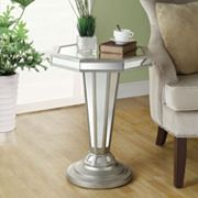 Monarch Mirrored Pedestal Accent Table