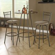 Monarch 2-pc. Swivel Bar Stool Set