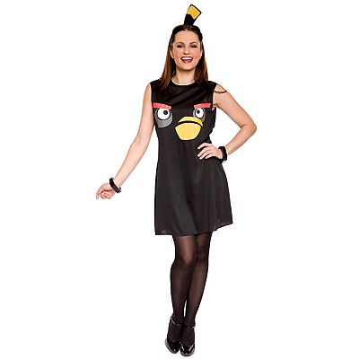 Angry Birds Black Bird Costume - Adult