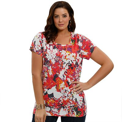 daisy fuentes Printed Favorite Tee - Women's Plus
