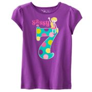 Jumping Beans Sassy at 7 Tee - Girls