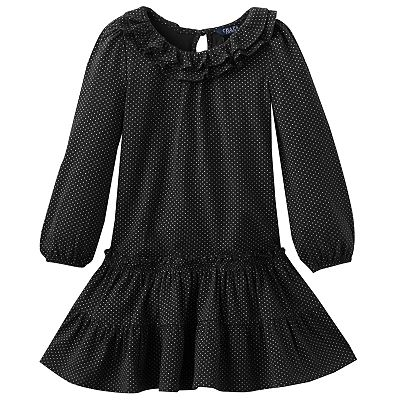 Chaps Ruffled Tiered Dress - Toddler