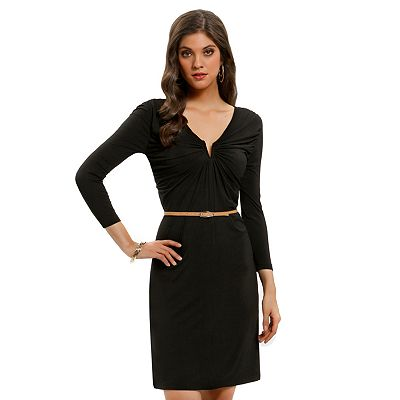 daisy fuentes Shirred Shift Dress - Petite
