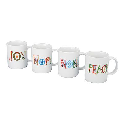 BIA Cordon Bleu Holiday Thoughts 4-pc. Mug Set