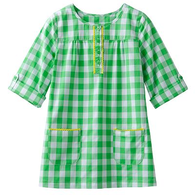 Carter's Plaid Woven Tunic - Girls 4-6x