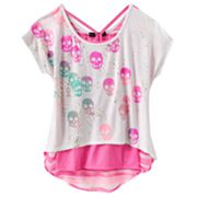 Rock and Republic Skull Hi-Low Top and Racerback Tank Set - Girls 7-16