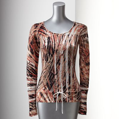 Simply Vera Vera Wang Splatter Sweater