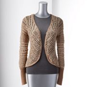 Simply Vera Vera Wang Textured Open-Work Cardigan