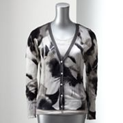 Simply Vera Vera Wang Watercolor Pointelle Cardigan