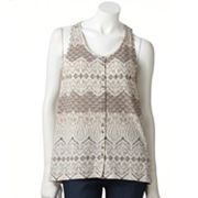 SONOMA life + style Scroll Drop-Tail Hem Tank